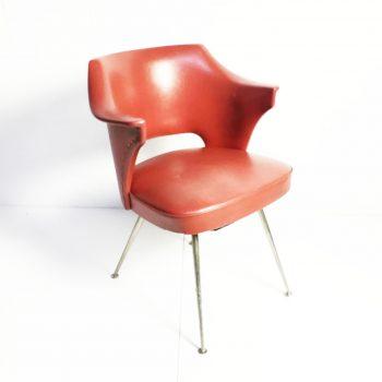 MidCentury stoel rood